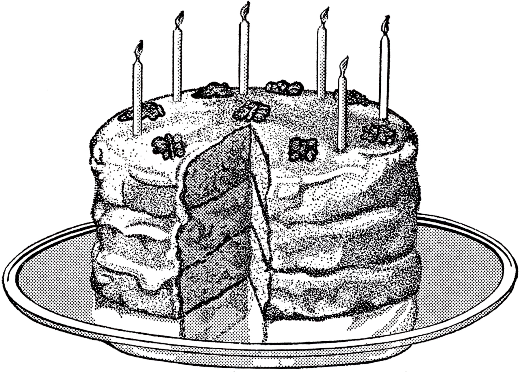 Vintage birthday cake clipart image transparent download Vintage Birthday Cake Image! - The Graphics Fairy image transparent download