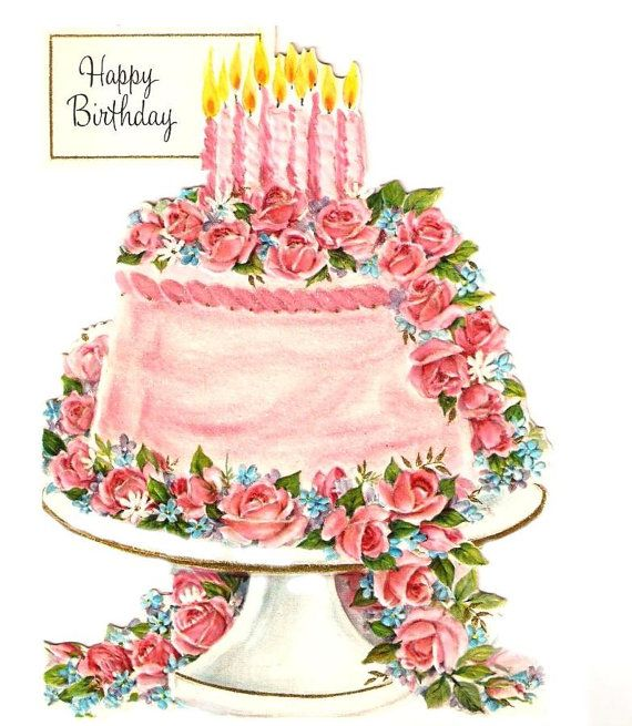 Vintage birthday cake clipart image free 17 Best images about Yummy! Birthday cake! on Pinterest ... image free