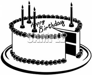 Vintage birthday cake clipart picture freeuse stock Birthday Cake Clipart Black And White | Clipart Panda - Free ... picture freeuse stock