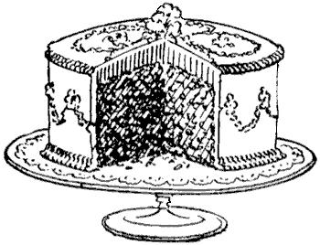 Vintage birthday cake clipart clip Vintage cake clipart - ClipartFest clip