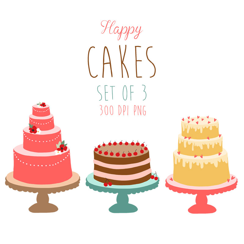 Vintage birthday cake clipart vector black and white stock Vintage cake clipart - ClipartFest vector black and white stock