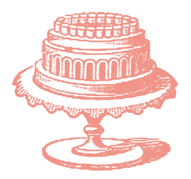 Vintage birthday cake clipart library Vintage cake clipart - ClipartFest library
