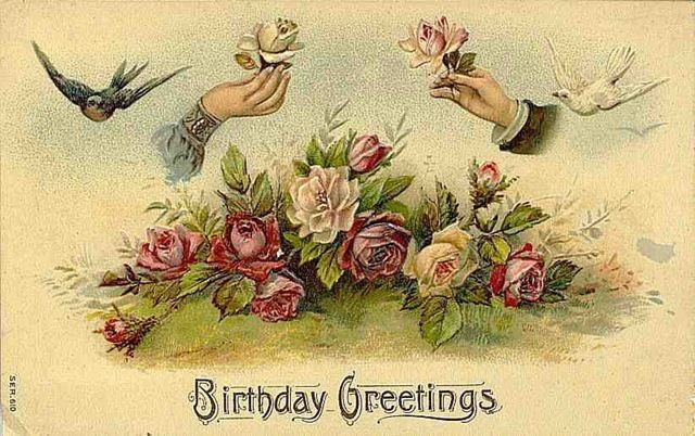 Vintage birthday card clipart svg stock Notes from the Sierra Nevada wilderness | clip art victorian ... svg stock