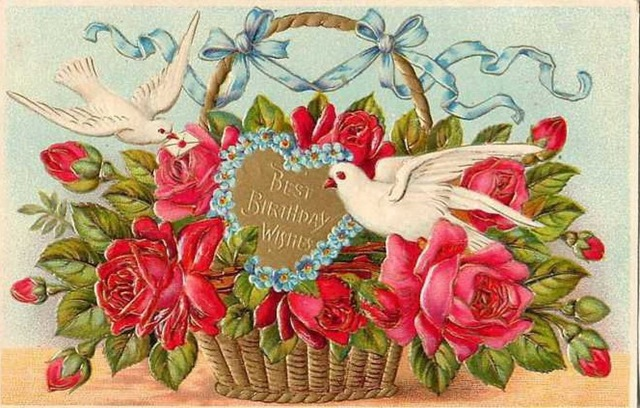 Vintage birthday clipart free jpg transparent stock Free Vintage Birthday Cards - Vintage Holiday Crafts jpg transparent stock