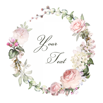 Vintage bloom clipart clip freeuse stock 2019 的 Floral Wreaths With Typography, Floral, Wreaths ... clip freeuse stock