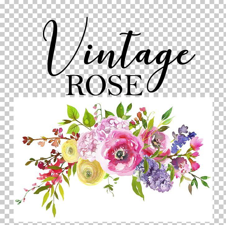 Vintage bloom clipart svg library download Vintage Rose Boutique & Flower Shop Watercolor Painting ... svg library download