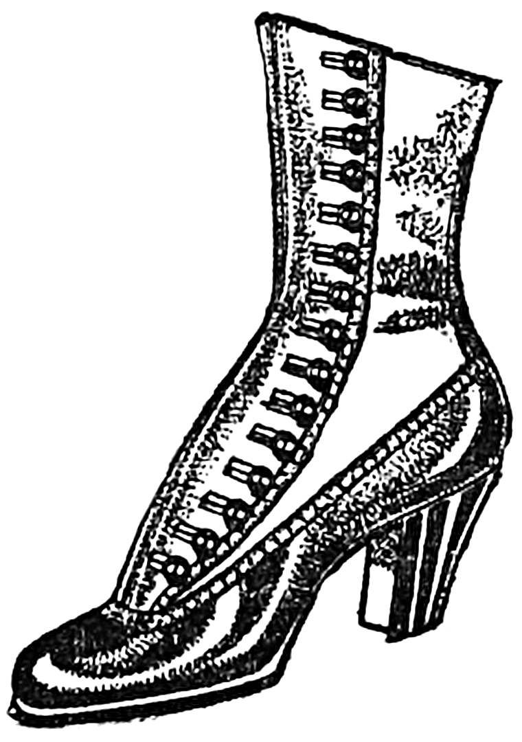 Vintage boot clipart clipart royalty free Vintage Woman\'s Boot public domain clipart | Graphics ... clipart royalty free