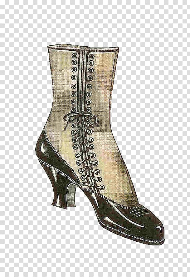 Vintage boot clipart graphic freeuse Fashion boot Shoe Vintage clothing , boot transparent ... graphic freeuse