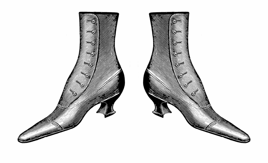 Vintage boot clipart graphic royalty free library 2775 Lady Boots Victorian Era Free Vintage Clip Art ... graphic royalty free library