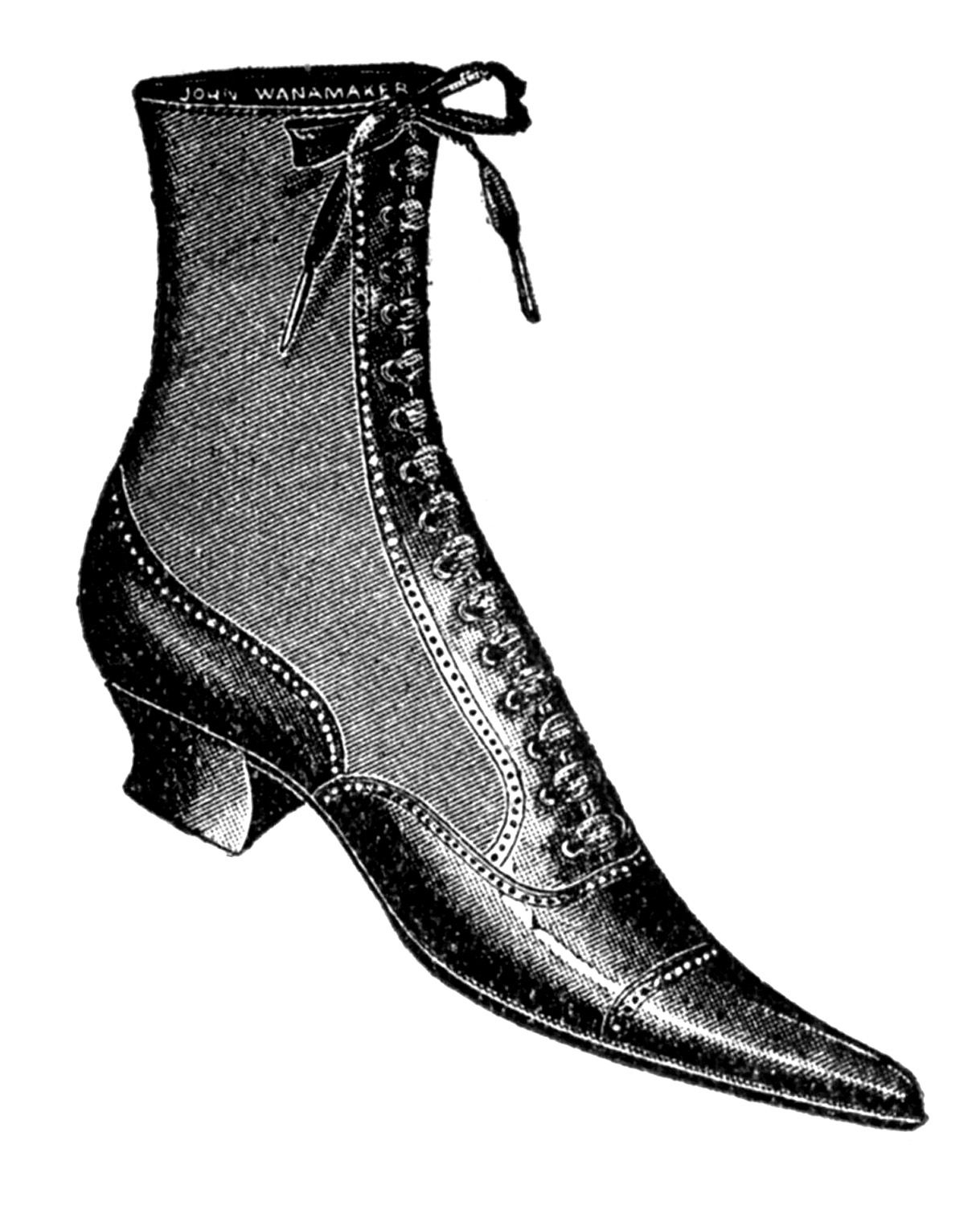 Vintage boot clipart jpg library download Vintage Clip Art - Ladies Shoes and Boots | Scrapbooking ... jpg library download