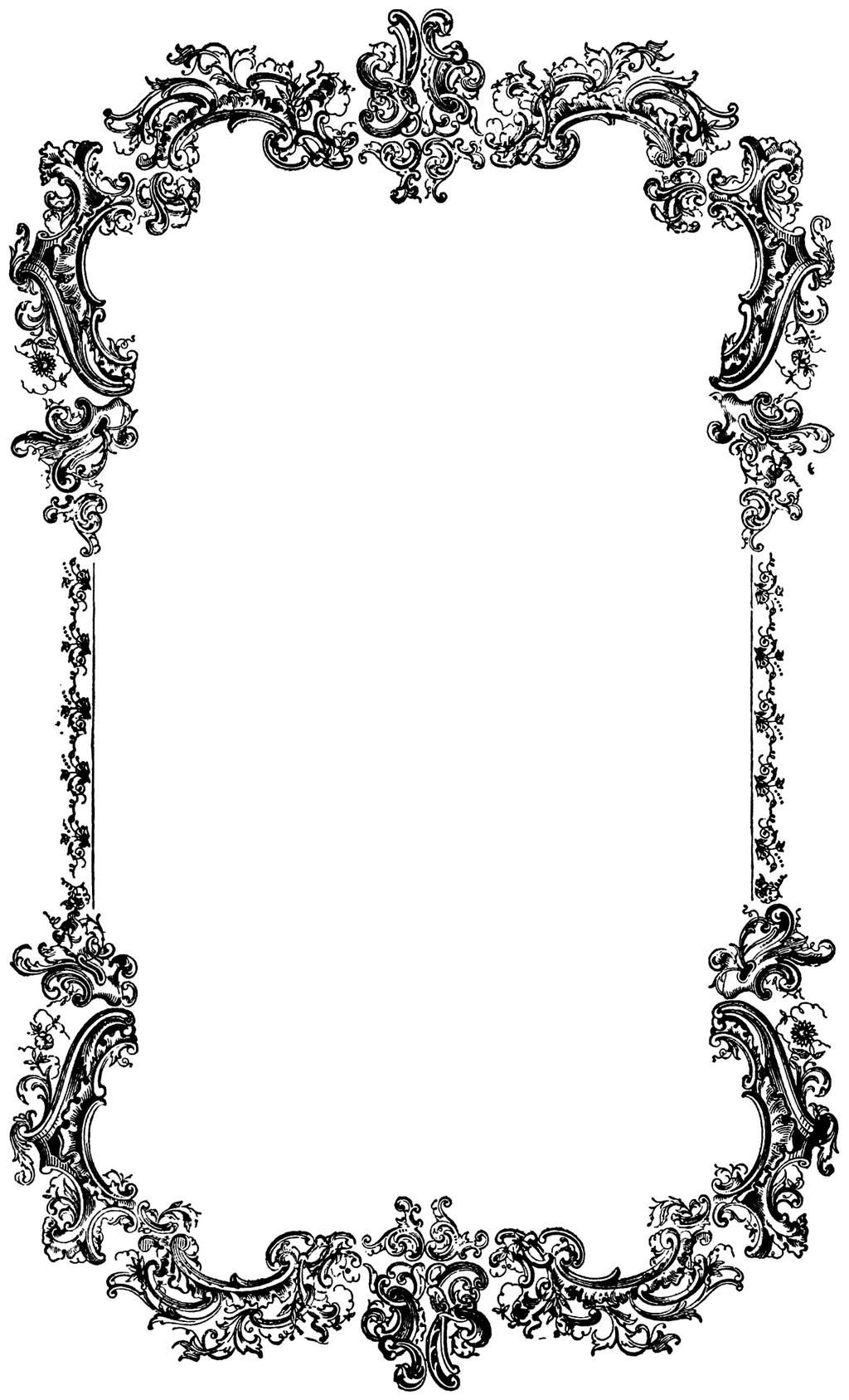 Vintage border clipart free clip art black and white library Vintage Borders Clipart Vgosn Border Frame - Clipart1001 ... clip art black and white library