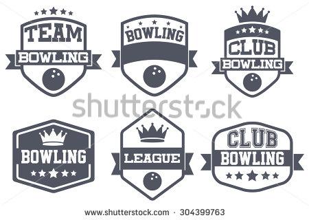 Vintage bowling logo clipart clip stock Bowling event logo clipart - ClipartFest clip stock