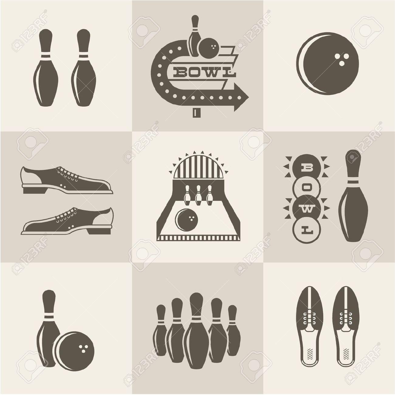 Vintage bowling logo clipart jpg royalty free stock Bowling Images & Stock Pictures. Royalty Free Bowling Photos And ... jpg royalty free stock