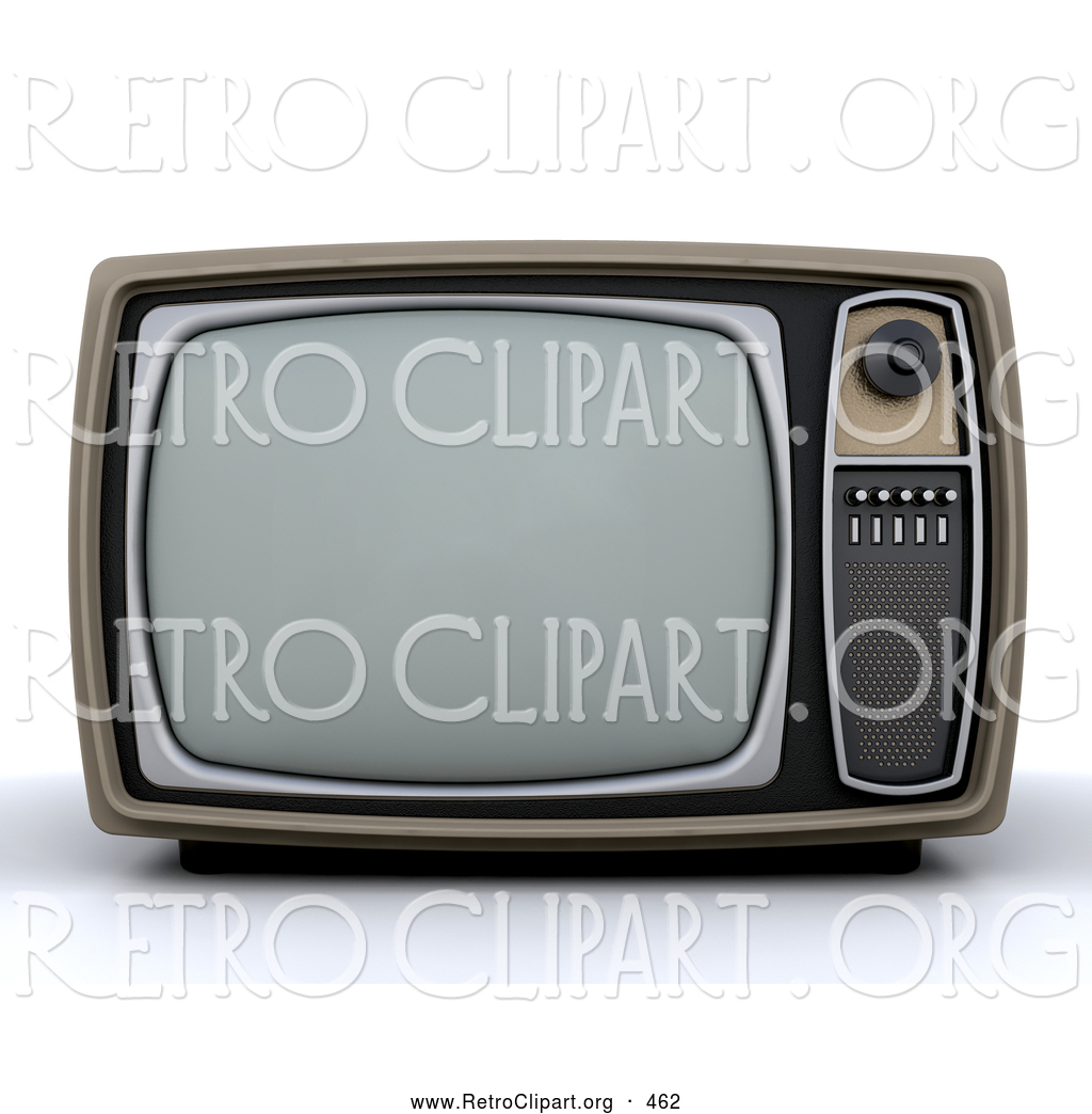 Vintage box tv clipart clipart royalty free library Retro Clipart of a Vintage Box TV with a Control Panel on ... clipart royalty free library