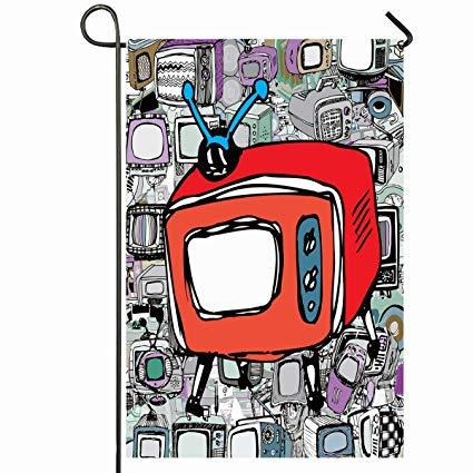 Vintage box tv clipart png transparent download Amazon.com : Ahawoso Outdoor Garden Flag 12x18 Inches ... png transparent download