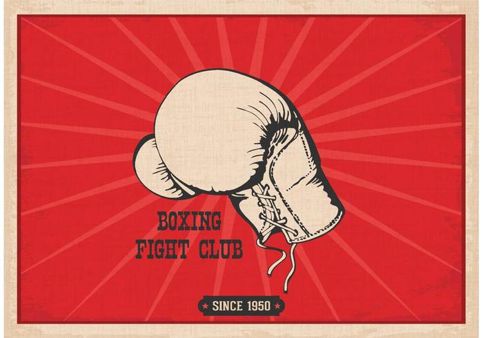 Vintage boxing gloves clipart free royalty free Retro Boxing Glove Poster Vector - Download Free Vector Art ... royalty free