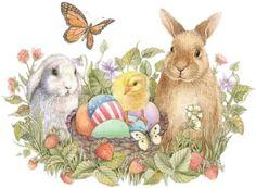 Vintage bunny clipart banner download Vintage Easter Bunny Clipart – HD Easter Images banner download