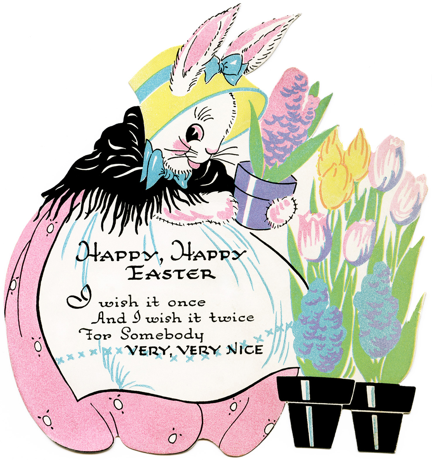 Free vintage easter clipart images clipart transparent download Free Vintage Image ~ Easter Bunny Clipart - Old Design Shop Blog clipart transparent download
