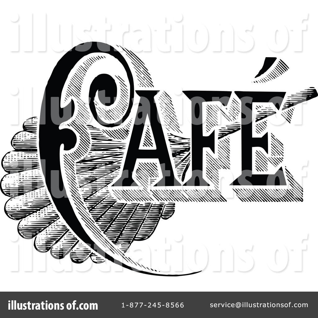 Vintage cafe clipart clip black and white download Cafe Clipart #1112610 - Illustration by Prawny Vintage clip black and white download