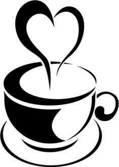 Love coffee clipart jpg black and white library Vintage Tea Cup Clipart | Free download best Vintage Tea Cup ... jpg black and white library
