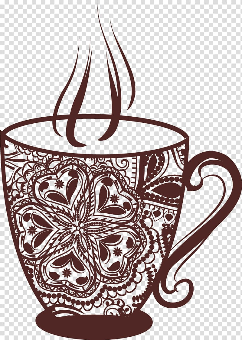 Vintage cafe clipart picture freeuse stock Coffee cup Tea Cafe, Vintage coffee cup transparent ... picture freeuse stock