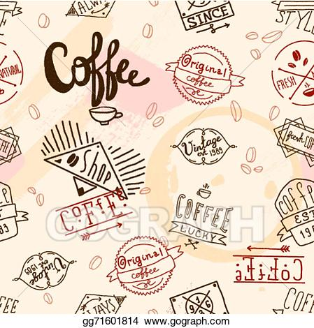 Vintage cafe restaurant clipart freeuse stock Vector Art - Vintage retro coffee seamless. EPS clipart ... freeuse stock