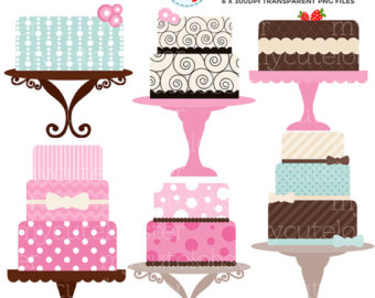 Vintage cake clipart picture free library Cake clipart | Etsy picture free library