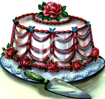 Vintage cake clipart transparent download Vintage Wedding Cake Clipart - Clipart Kid transparent download