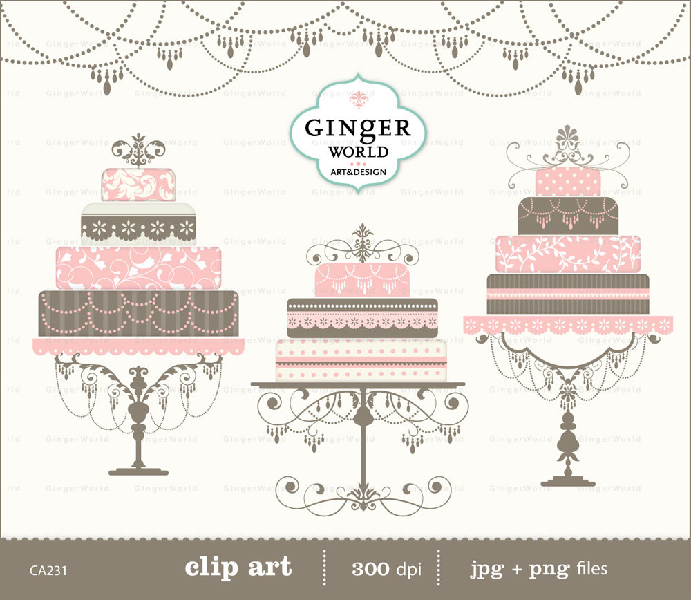 Vintage cake clipart vector transparent download Wedding Cake clipart multi-tier cake clipart birthday cake vector transparent download