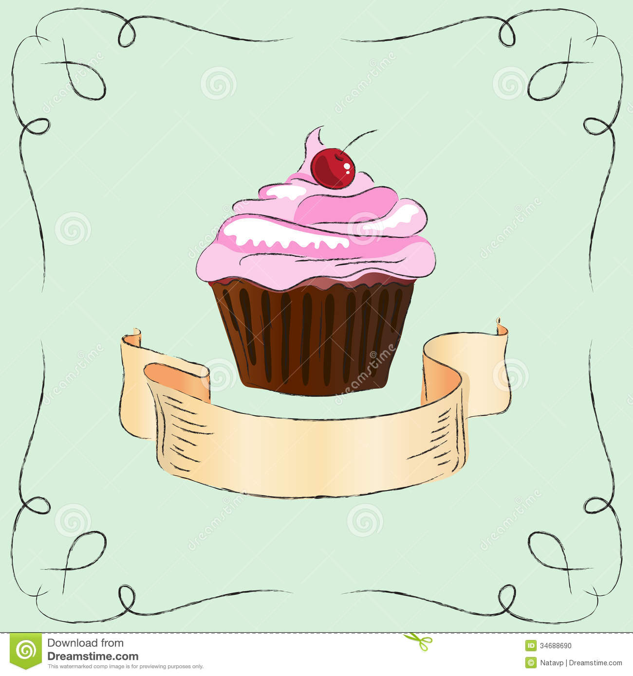 Vintage cake clipart clip art royalty free download Nice Vintage Cake Stock Photo - Image: 34688690 clip art royalty free download
