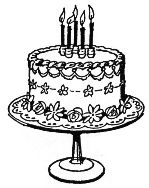 Vintage cake clipart vector free library Fancy Cake Clipart - Clipart Kid vector free library