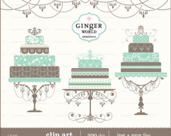 Vintage cake clipart picture black and white Tiered cake clipart | Etsy picture black and white