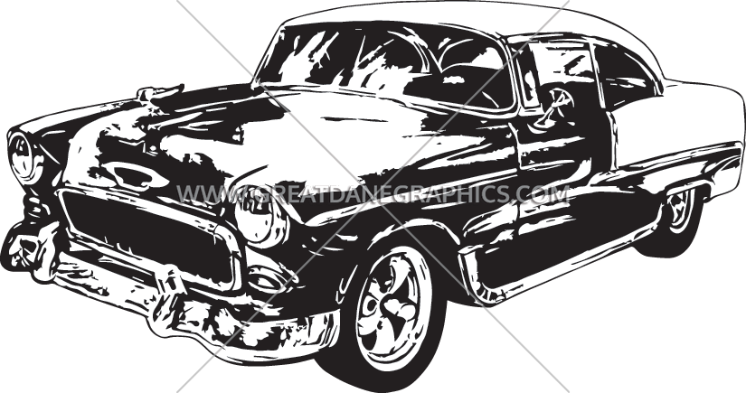 Vintage car clipart vector banner free stock Vintage Car | Production Ready Artwork for T-Shirt Printing banner free stock
