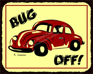 Vintage car signs clipart transparent stock Details about (VMA-L-6518) Bug Off VW Vintage Metal Art Automotive Retro  Tin Sign transparent stock