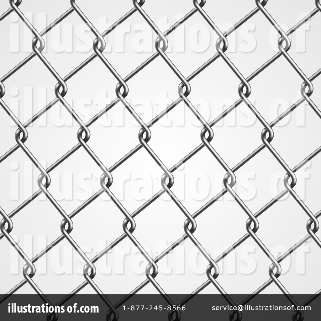Vintage chain link fence clipart clip art black and white Fence Clipart #1114205 - Illustration by vectorace clip art black and white