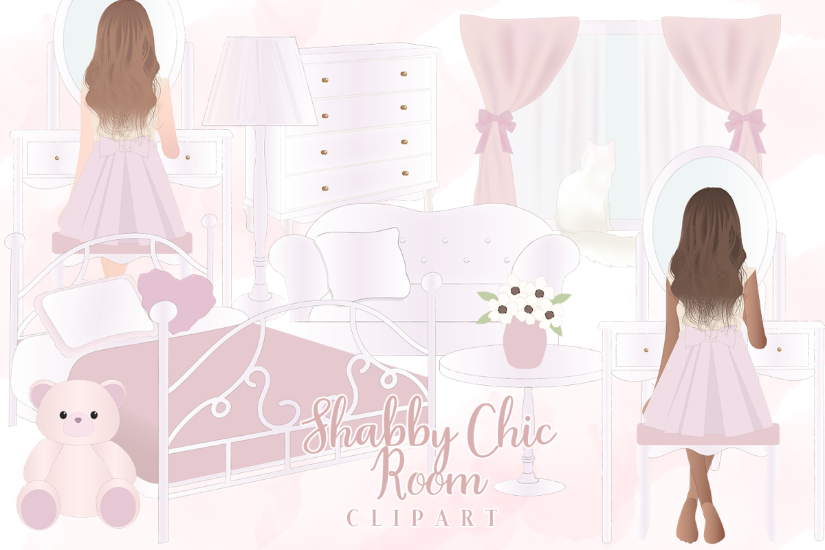 Vintage chic animal clipart jpg freeuse download Shabby Chic Girl Room Clipart jpg freeuse download