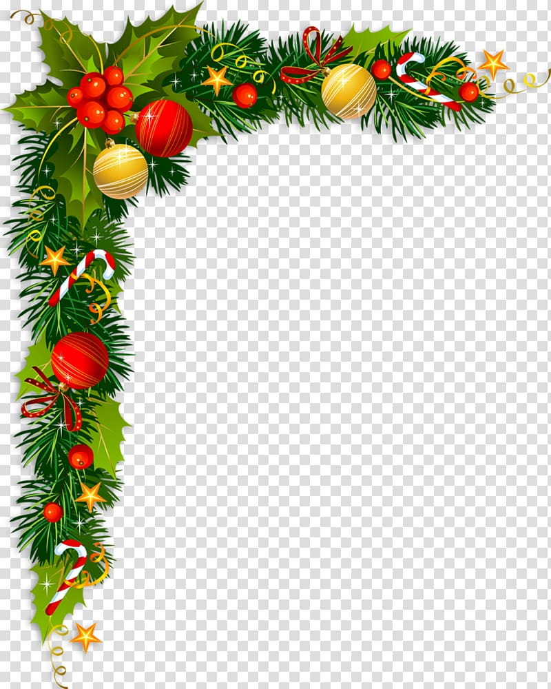 Vintage christmas pine rope clipart banner library Borders and Frames Christmas card Christmas tree , pouring ... banner library