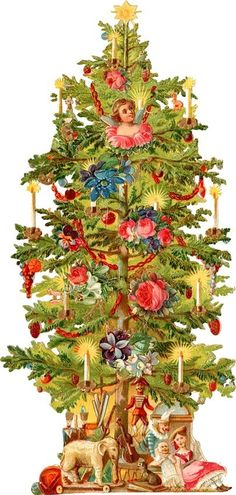Vintage christmas pine rope clipart png royalty free library 429 Best Victorian Christmas images in 2019 | Antique ... png royalty free library
