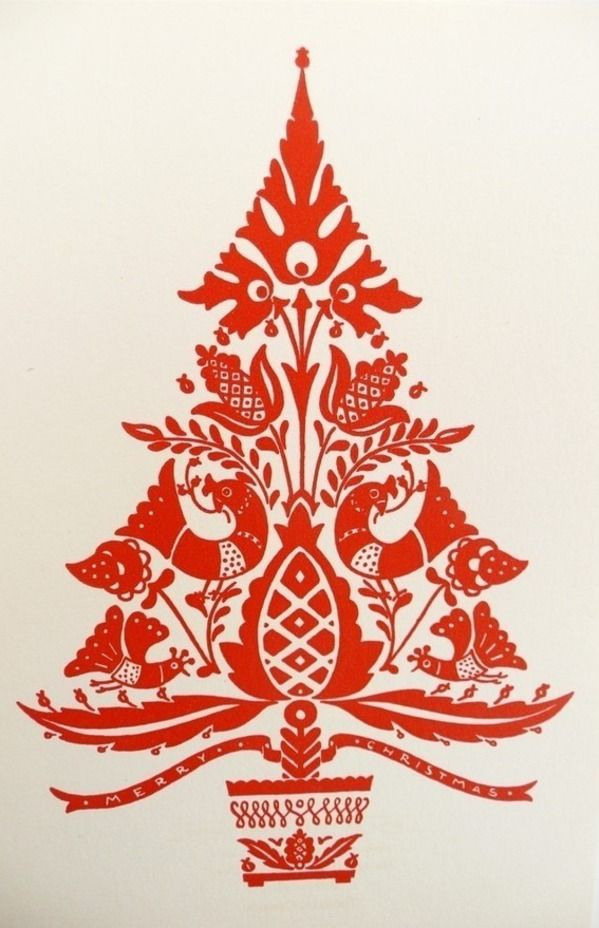 Vintage christmas pine rope clipart clip art transparent library Scandinavian folk-art Christmas tree is my festive ... clip art transparent library