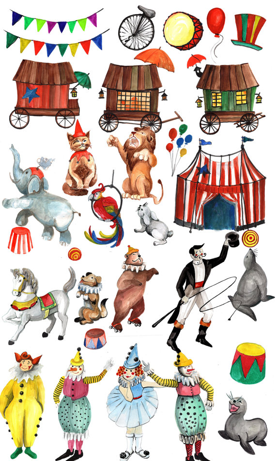 Vintage circus clipart banner royalty free library Circus Clipart: \
