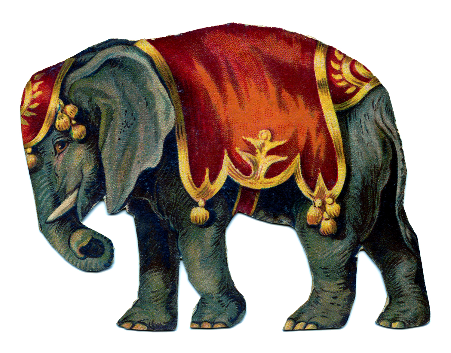 Vintage circus clipart png free Vintage Image - Circus Elephant - The Graphics Fairy png free