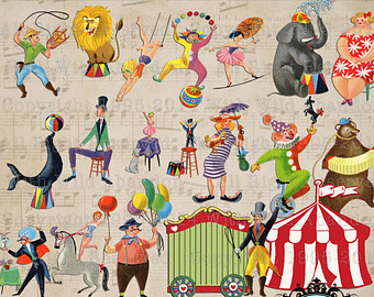 Vintage circus clipart graphic transparent stock Free Vintage Carnival Cliparts, Download Free Clip Art, Free ... graphic transparent stock