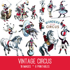 Vintage circus clipart png black and white stock Circus Archives - The Graphics Fairy png black and white stock