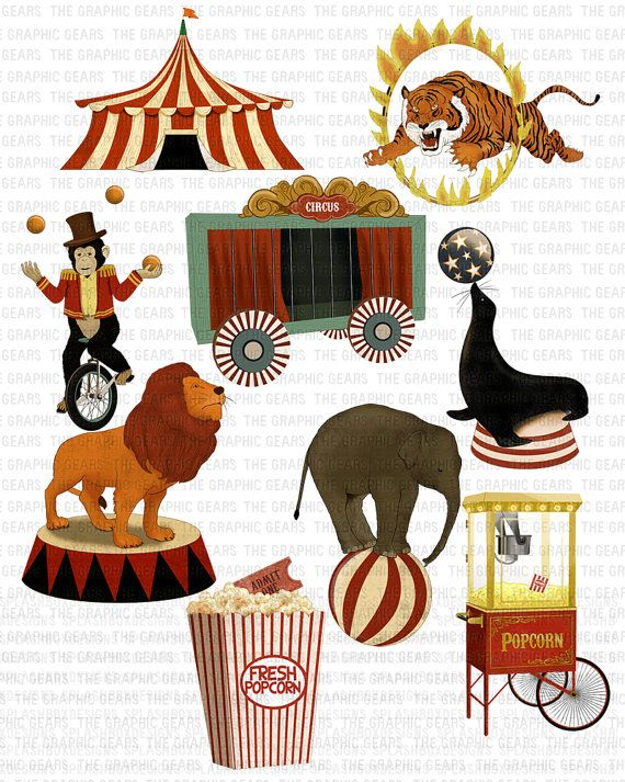 Vintage circus clipart image library library Circus Clip Art Vintage Circus Clipart Highly by ... image library library
