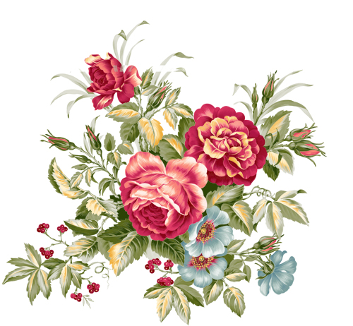 Vintage clip art flowers clip art freeuse stock Vintage flower clipart free - ClipartFest clip art freeuse stock
