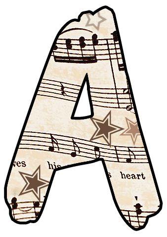 Vintage clipart alphabet picture royalty free stock ArtbyJean - Vintage Sheet Music: Vintage Music Alphabet and ... picture royalty free stock
