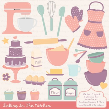 Vintage clipart baking jpg black and white download In The Kitchen Baking Clipart & Vectors in Vintage - Baking Clip Art jpg black and white download