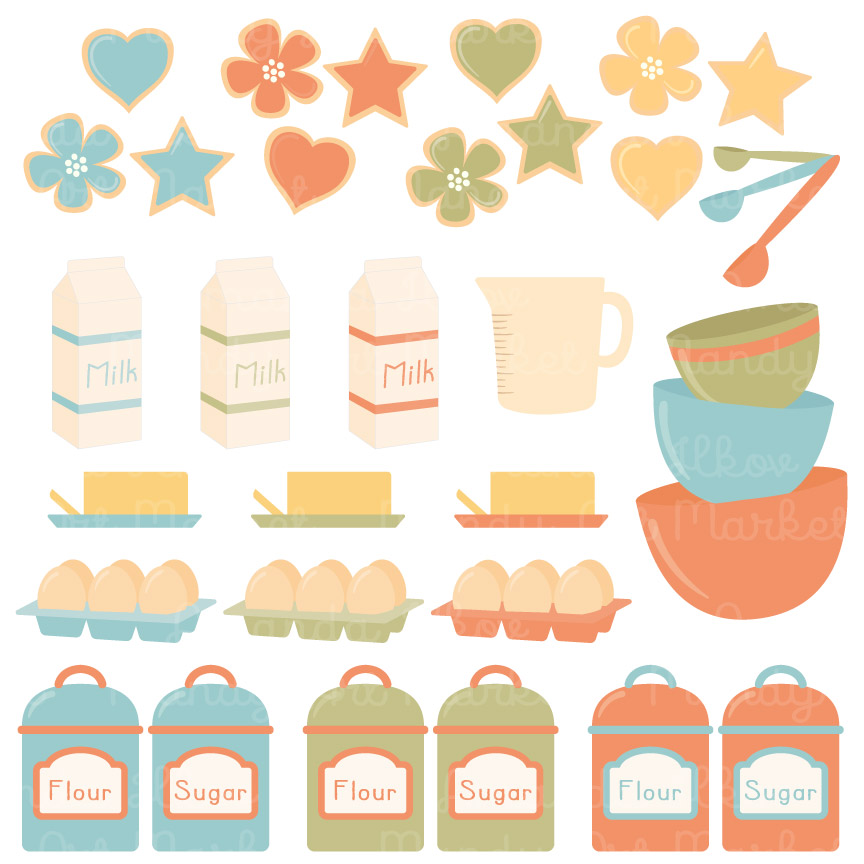 Vintage clipart baking image freeuse library Vintage Boy Baking in the Kitchen image freeuse library