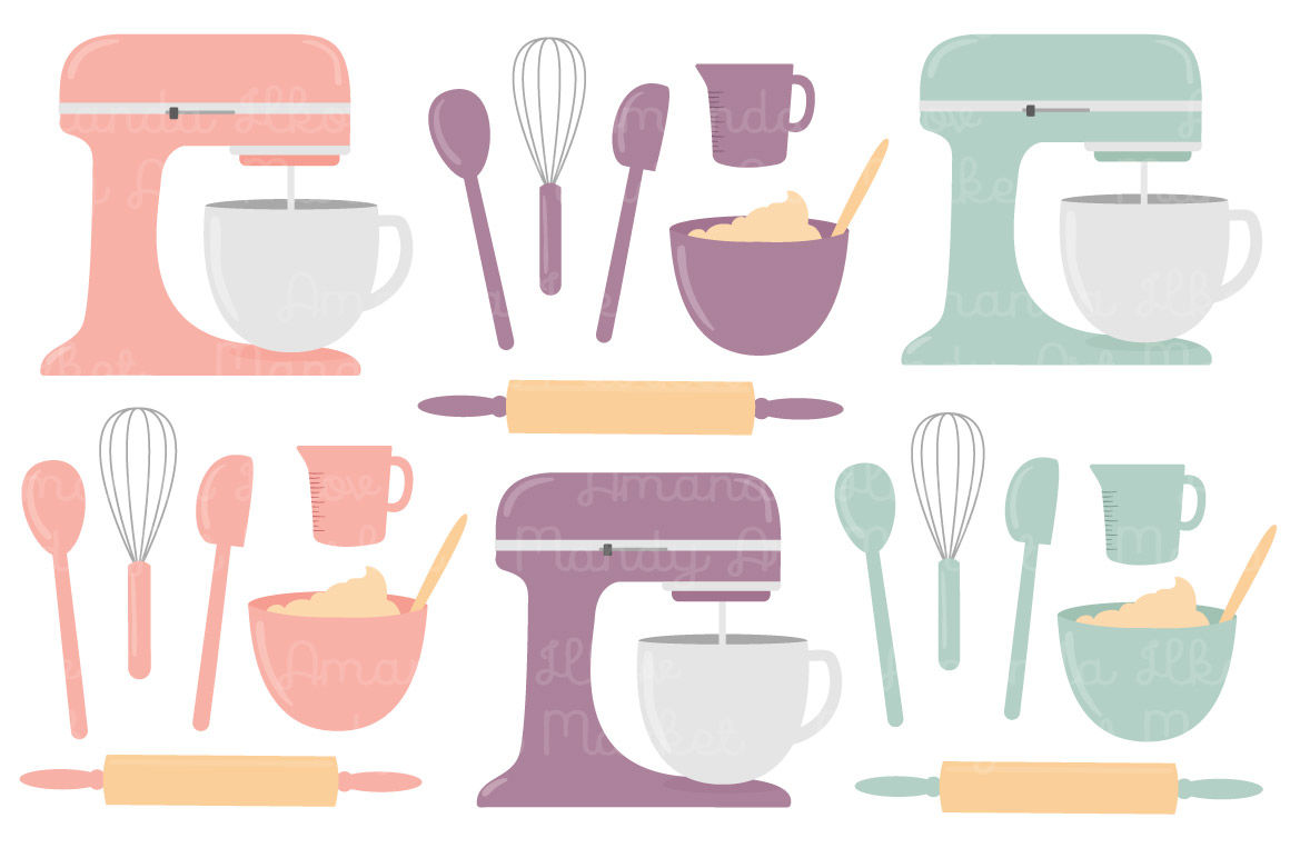 Vintage clipart baking svg black and white Vector Baking Clipart in Vintage By Amanda Ilkov ... svg black and white