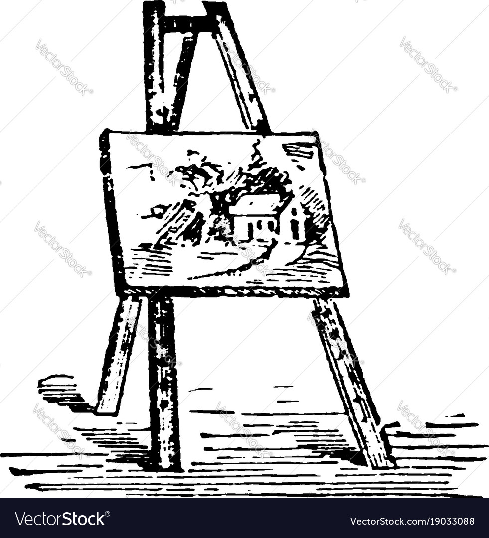 Vintage clipart easel free library Easel have pictures are placed while being free library
